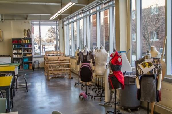 Fashion design studio (Textile room) at Frey Hall.