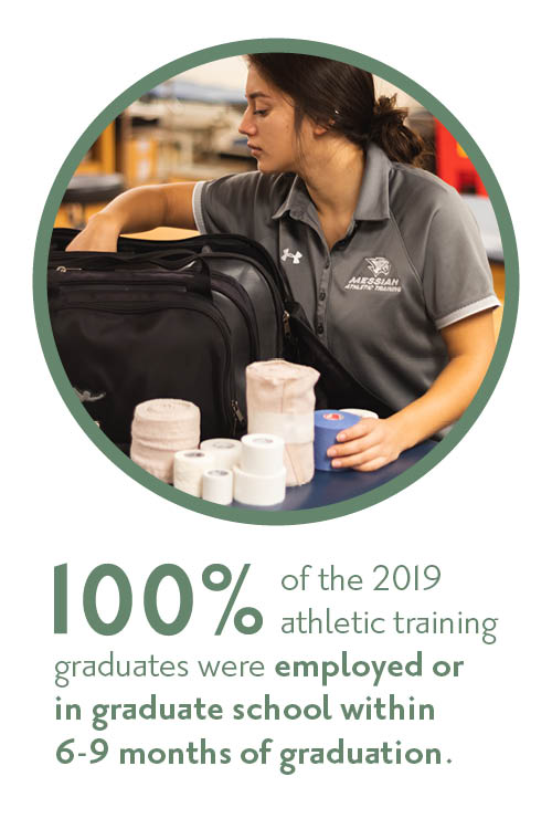 100% of the class of 2019 athletic training grads are employed