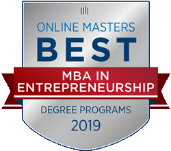 Messiah College's MBA was named a Top MBA in Entrepreneurship Programs for 2019 by OnlineMasters.com.