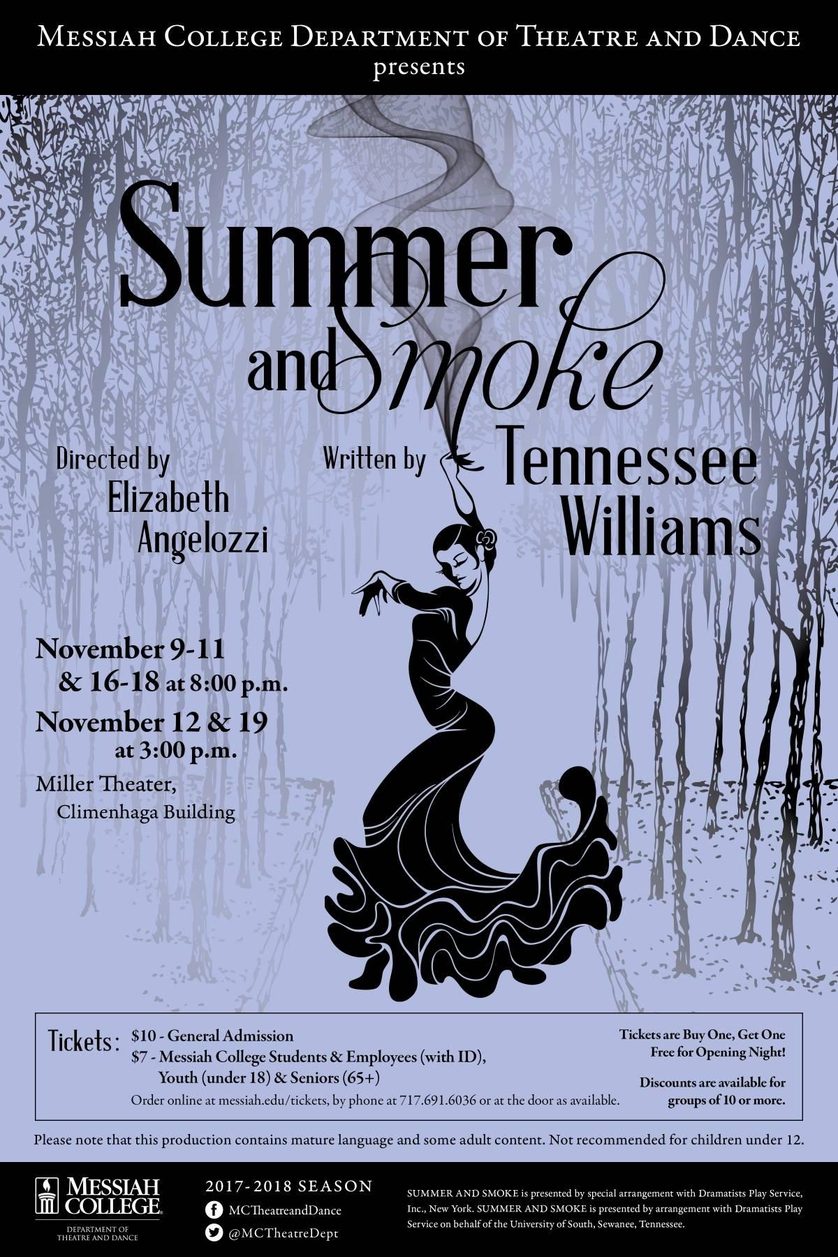 Summer & Smoke poster 2017