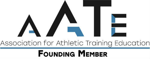 "A company logo says ""Association for Athletic Training Education."""