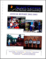 Agape reports overview 2003