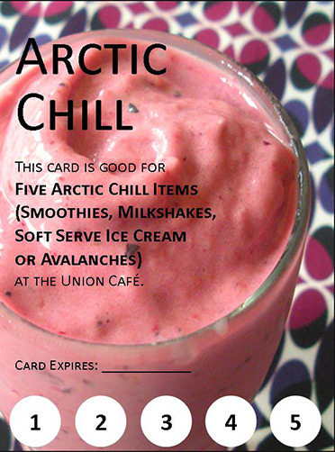 Image of a Arctic chill (assorted smoothies) coupon.