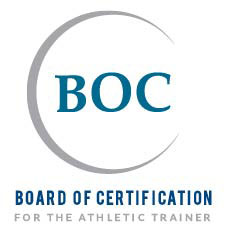 A circular logo shows a board of certification image.