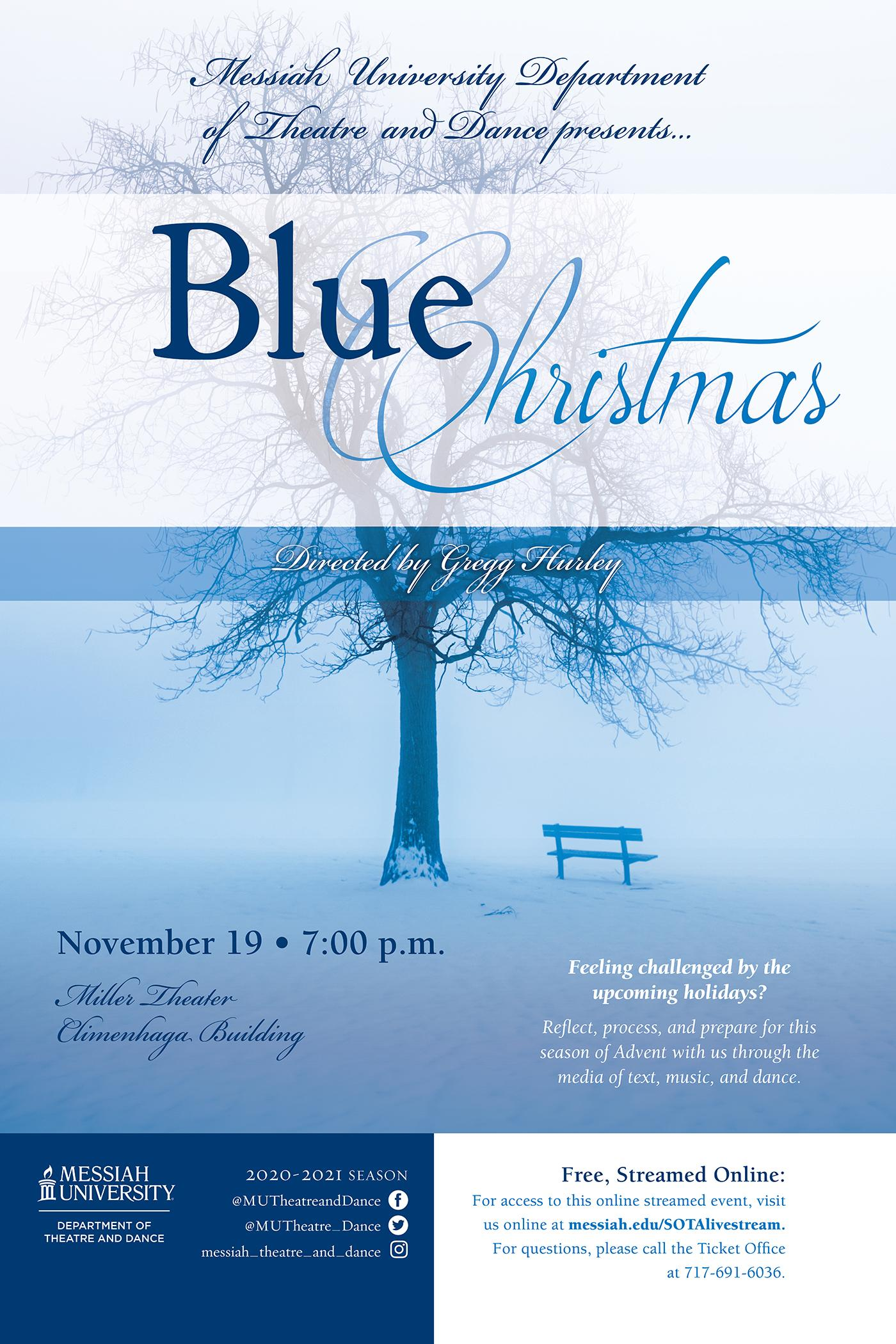 Messiah College Christmas Concert 2021 Blue Christmas Messiah University