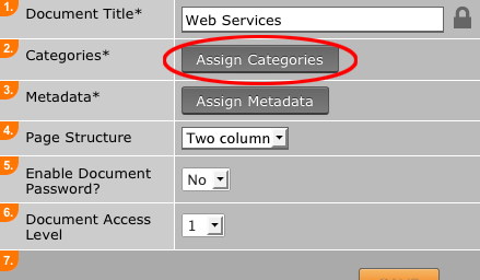 Assign category to Document