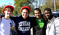 Group of diverse students at Messiah College