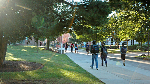 Outside view of Messiah College campus