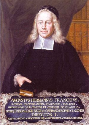 Painting of 17th century Pietist leader August Hermann Franke