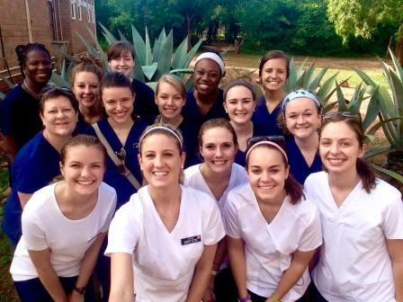 Group photo of nursing students during their Zambia Senior Practicum trip.