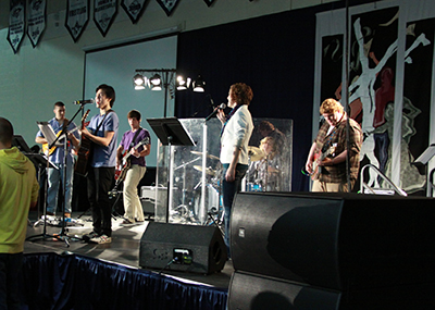 Student band performing