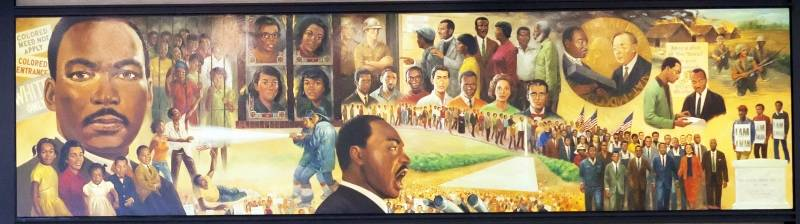 Martin Luther King Jr in several images