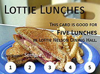 A coupon for five Lottie lunches.