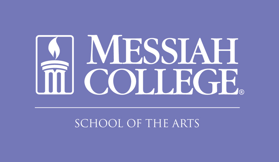 Purple logo for Messiah College's school of arts