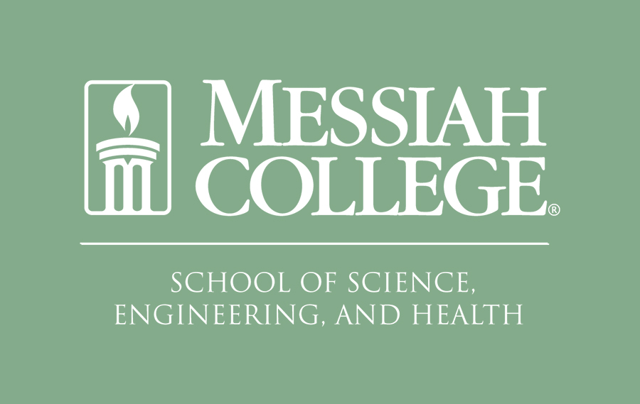 Green logo for Messiah College's School of Science, Engineering and Health.