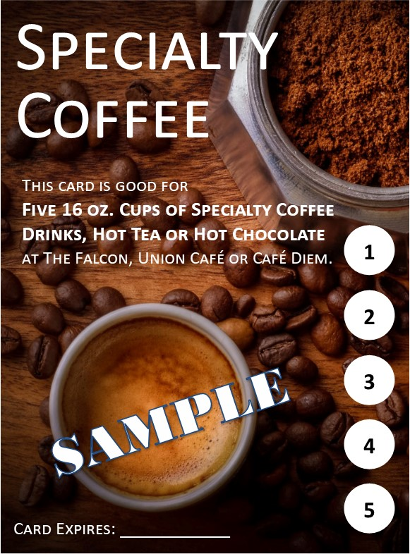 Image of a specialty coffee coupon.