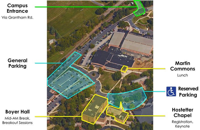 Directions and map | Messiah, a private Christian College in PA
