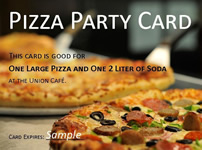 Image of a pizza party coupon.