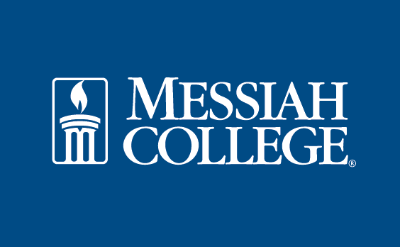 Messiah college logo in navy background.