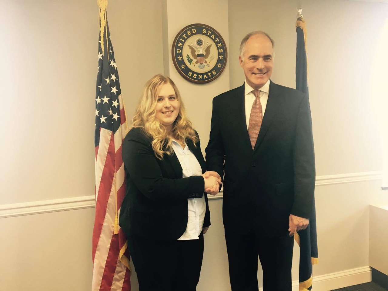 Sarah Fertsch with PA Senator Bob Casey Jr.