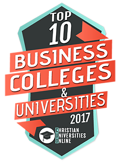 Logo for top 10 Business Colleges and Universities 2017, from Christian Universities Online.