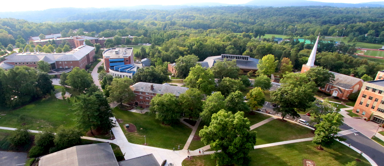 Campus photography from above
