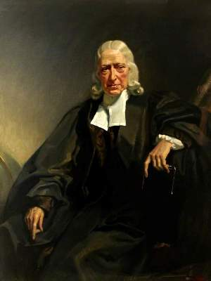 Painting of 17th century English churchman John Wesley