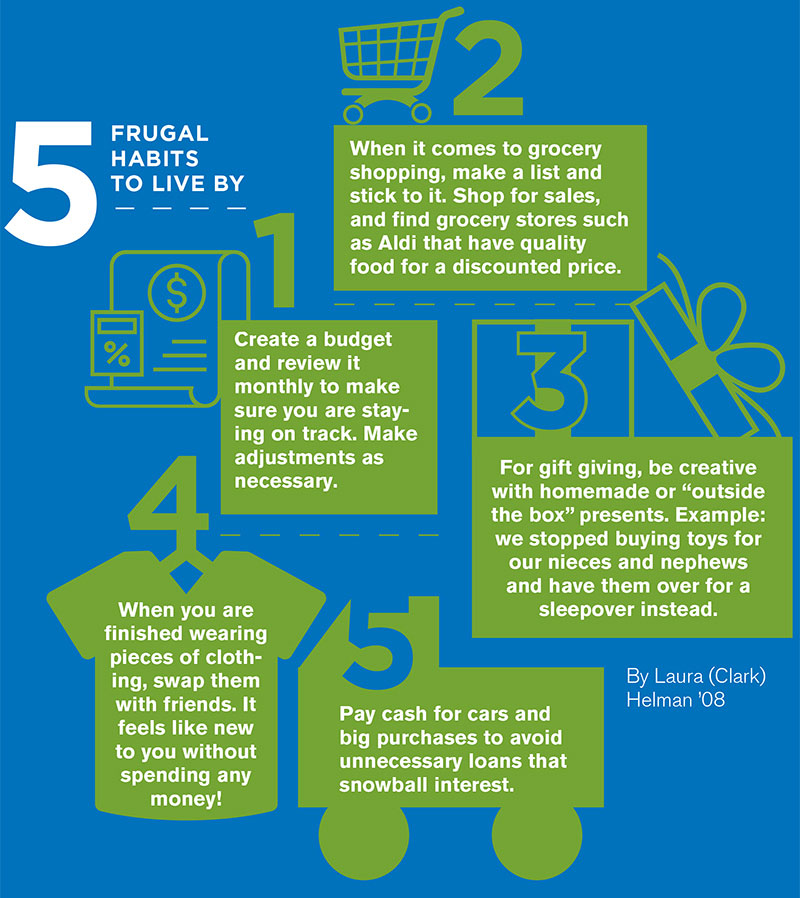 Frugal habits to live by infographic