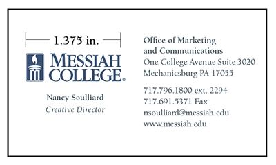 Stationery messiah a private christian college in pa individual campus units or persons may not design their own messiah college business cards to order business cards call college press at ext colourmoves