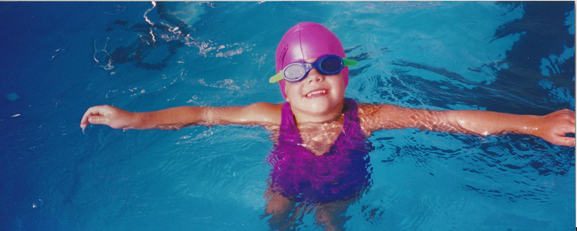 Wingert as a child swimmer.