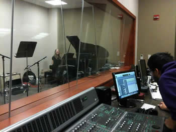 Recording studio at Messiah College