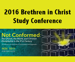 Banner for the 2016 Sider Institute study conference