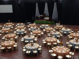 Catering hall setup