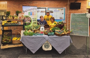 The garden team with their farm stand