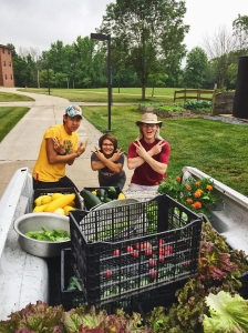 The garden team posing with their loot!