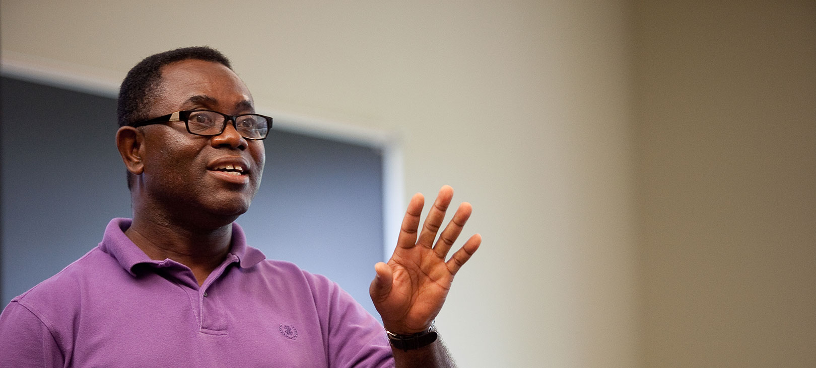 Graduate Programs: Education An african american professor giving a lecture in class.jpg