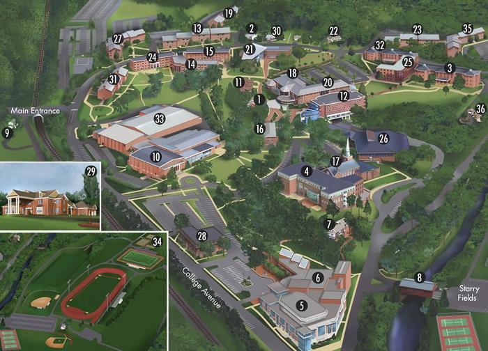 calvin college campus map